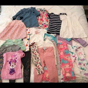 Bundle of toddler girl clothes